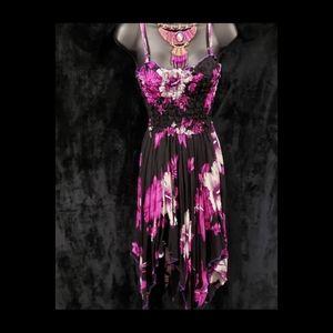 Dresses & Skirts - Purple Floral Cotton Summer Dress